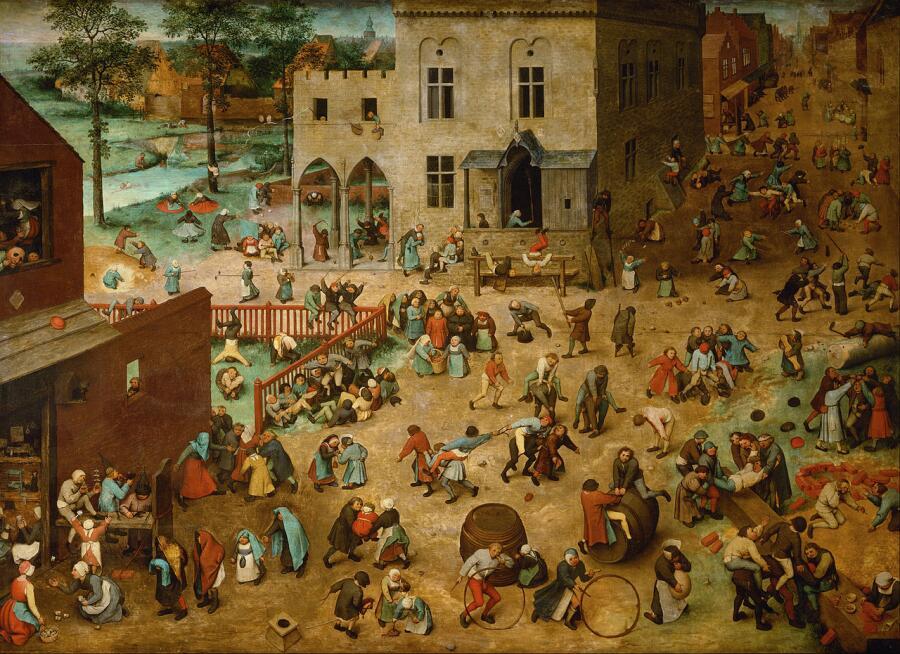 Питер Брейгель Старший, «Детские игры», 1560г.
