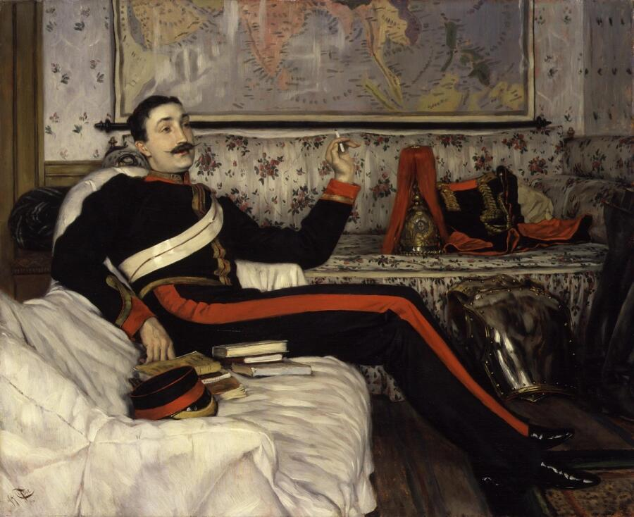 Джеймс Тиссо, «Портрет капитана Фредерика Густава Барнаби», 1870г.