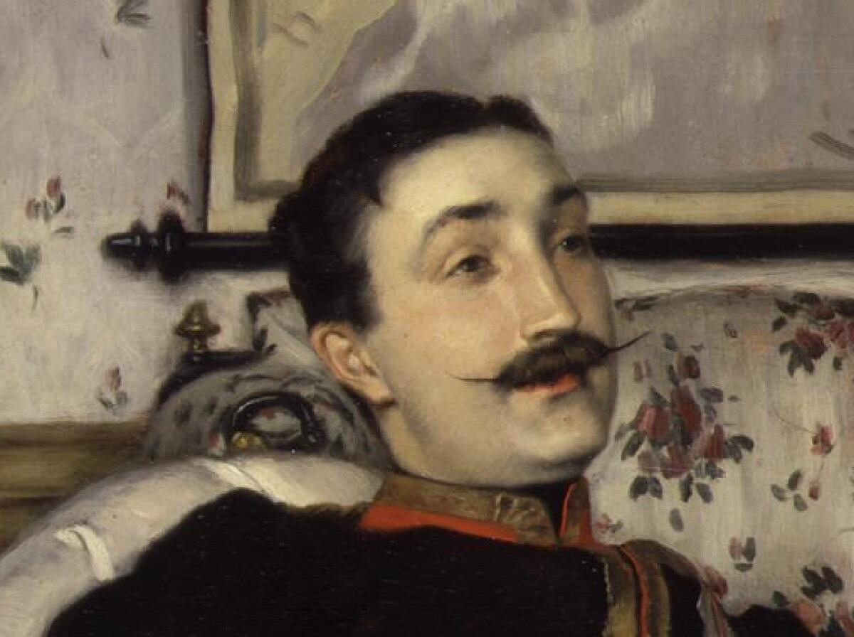 Джеймс Тиссо, «Портрет капитана Фредерика Густава Барнаби», фрагмент