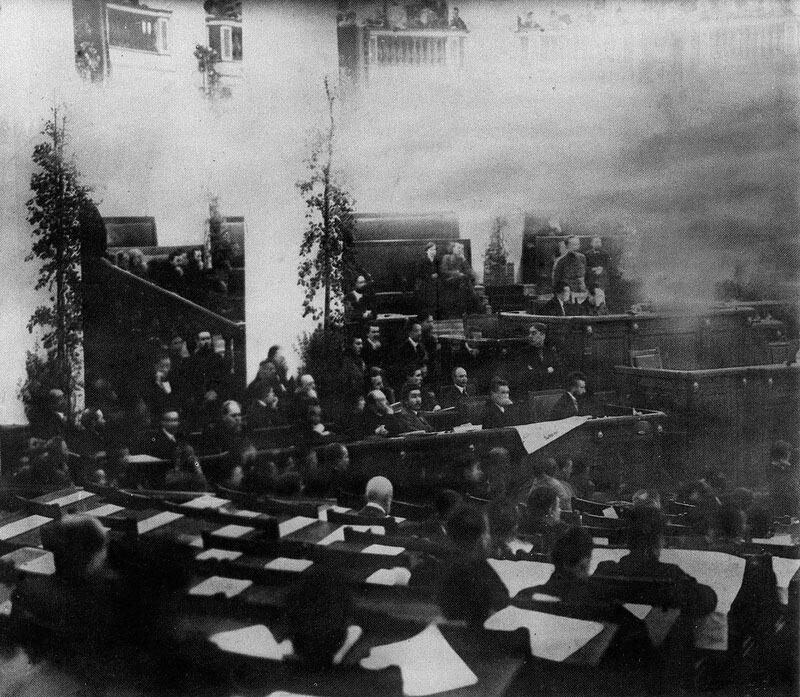 Фотография единственного заседания Всероссийского учредительного собрания