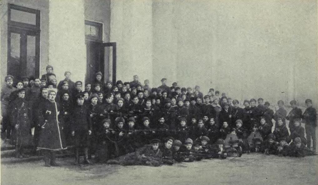 Отряд матросов Красной гвардии, разогнавших Учредительное собрание