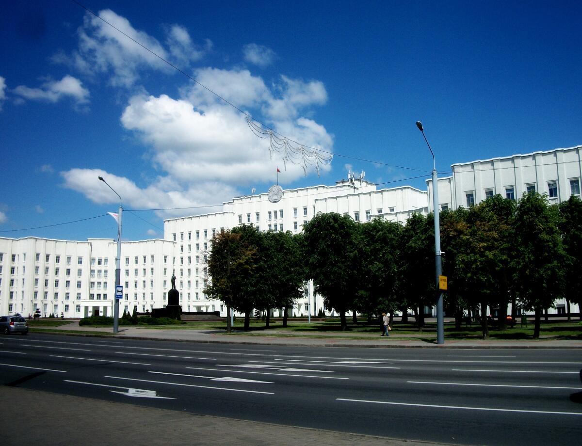 Площадь Ленина в Могилёве, Беларусь