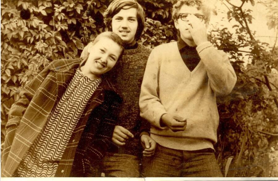 Автор с сестрой и братом, 1969 год, Фрунзе