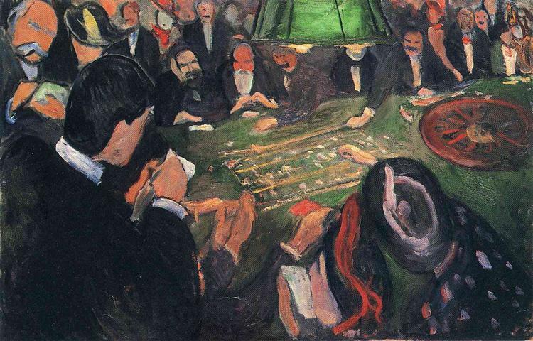 Эдвард Мунк, «За рулеткой», 1892г.