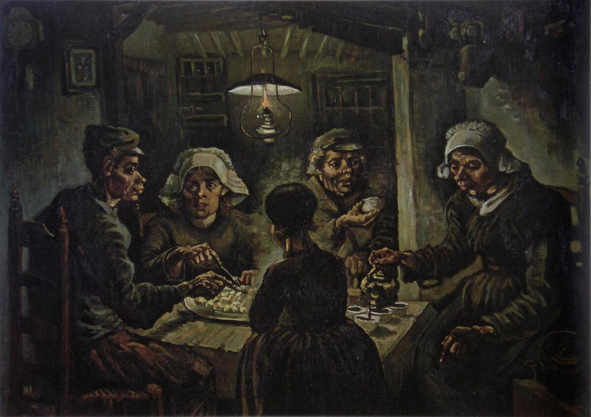 Винсент Ван Гог, «Едоки картофеля», 1885г.