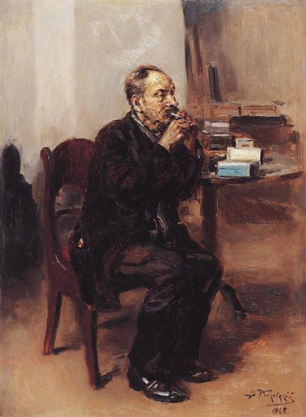 В. Е. Маковский, «Дегустатор табака», 1918г.