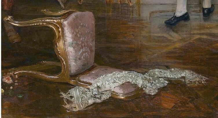 Витторио Реджанини, «Пренеприятное известие», фрагмент «Опрокинутый стул»