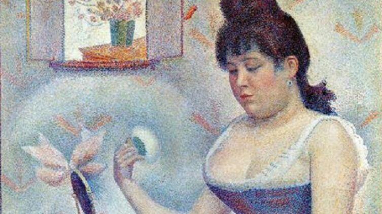 Жорж Сёра, «Пудрящаяся девушка», фрагмент, 1889−1890 гг.
