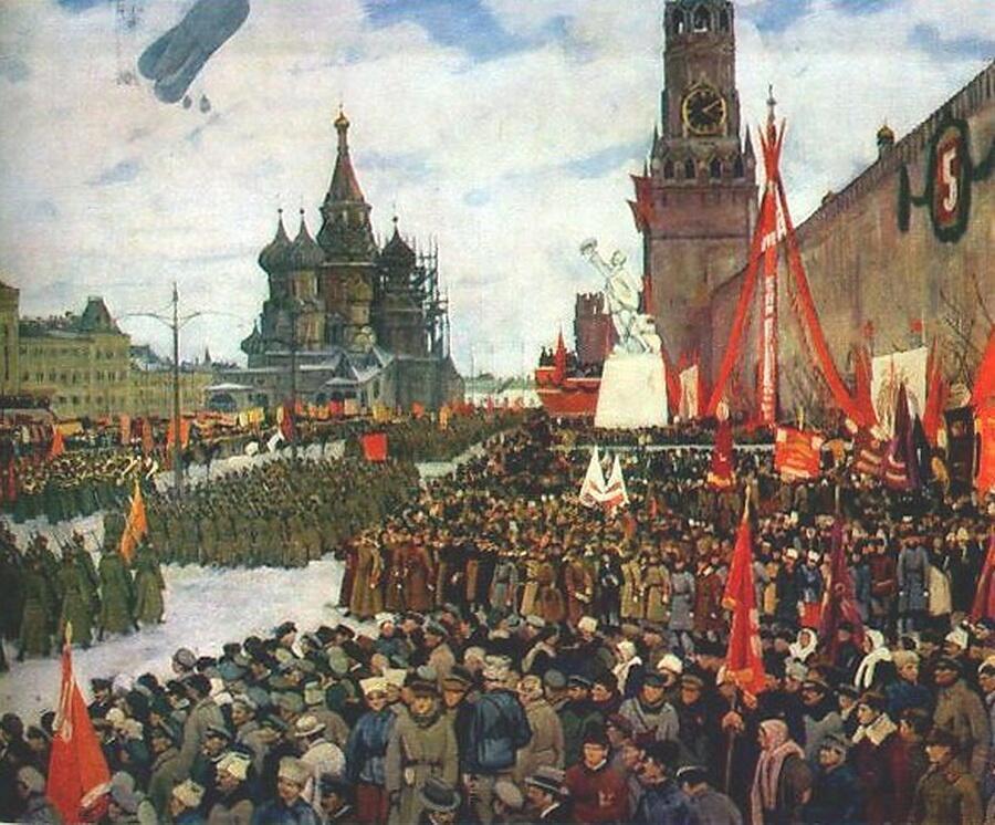 Константин Юон, «Парад Красной Армии», 1923г.
