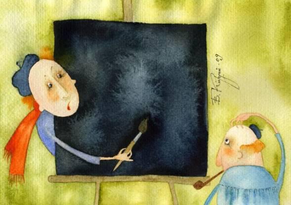 Виктория Кирдий, «Чёрный квадрат Малевича», 2009г.