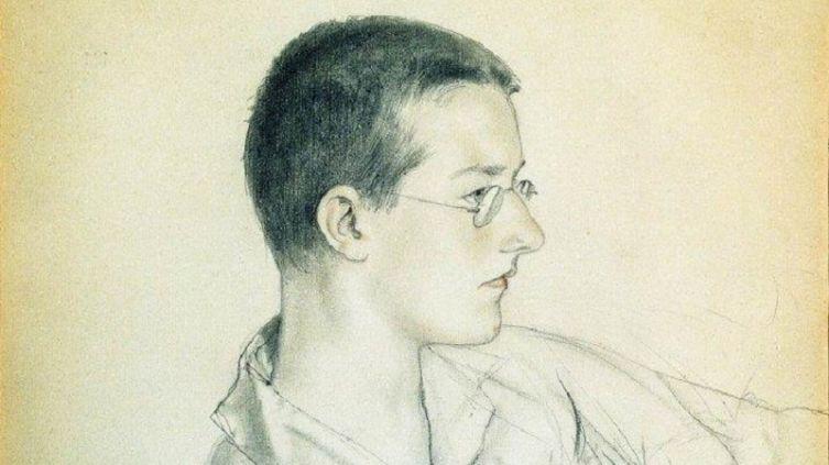 Б. М. Кустодиев, «Дмитрий Дмитриевич Шостакович», фрагмент, 1923г.