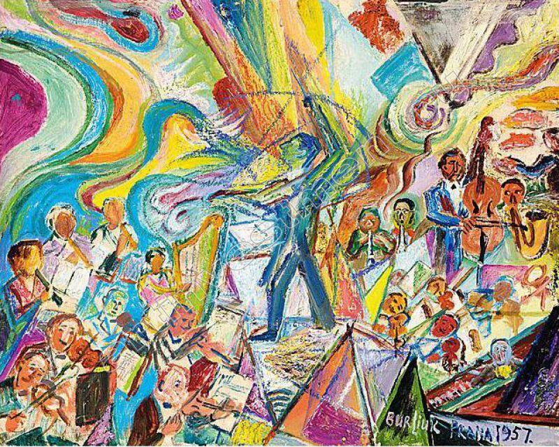 Давид Бурлюк, «Оркестр», 1957г.