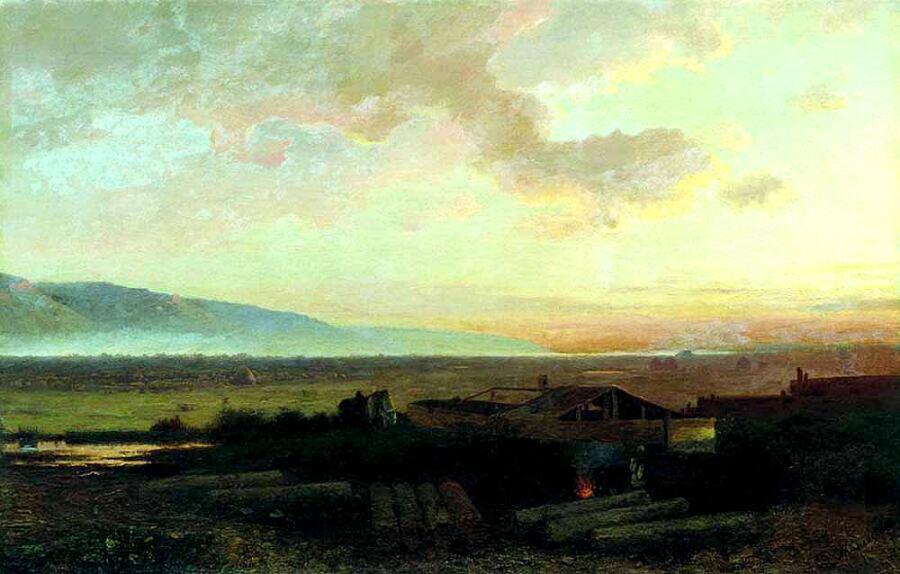 Л. Л. Каменев, «Закат», 1867г.