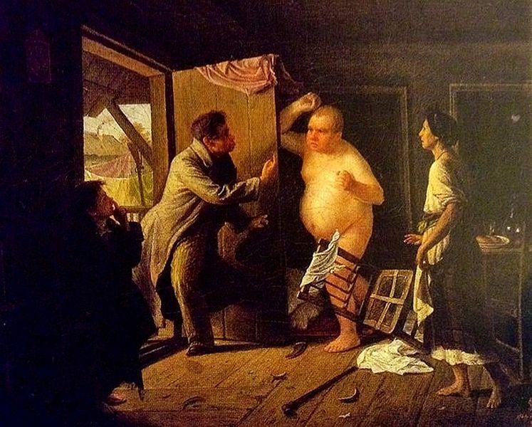 С. И. Грибков, «Ссора Ивана Ивановича с Иваном Никифоровичем», 1864г.