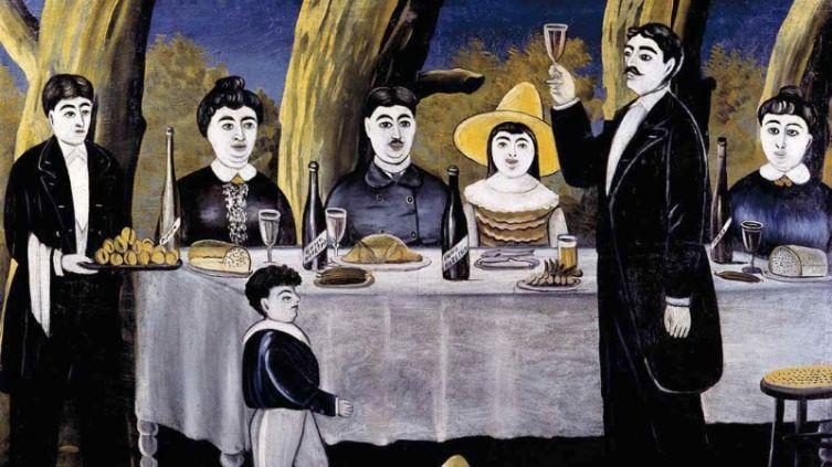 Нико Пиросмани, «Семейная компания», 1907г.