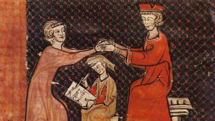 Символическая церемония принятия вассальной зависимости, или «оммаж»