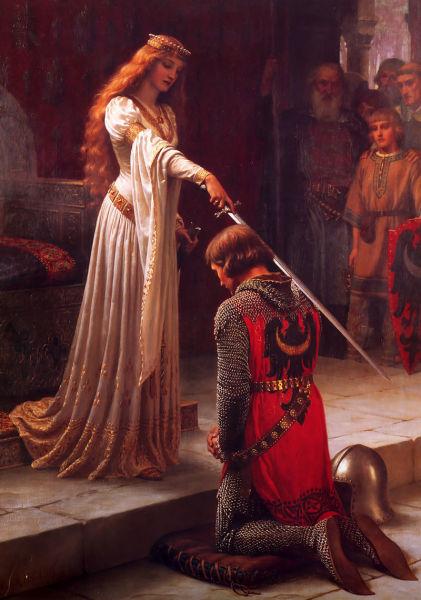 Э.Б. Лейтон, «Акколада», 1901г. (Акколада— посвящение в рыцари)