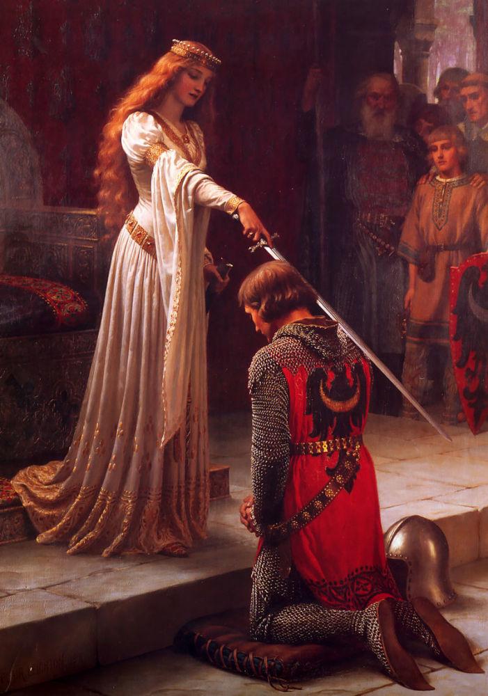 Э. Б. Лейтон, «Акколада», 1901г. (Акколада— посвящение в рыцари)