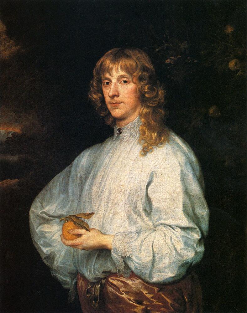Антонис ван Дейк, «Джеймс Стюарт, герцог Леннокский и Ричмондский с атрибутами», 1633−1634 гг.