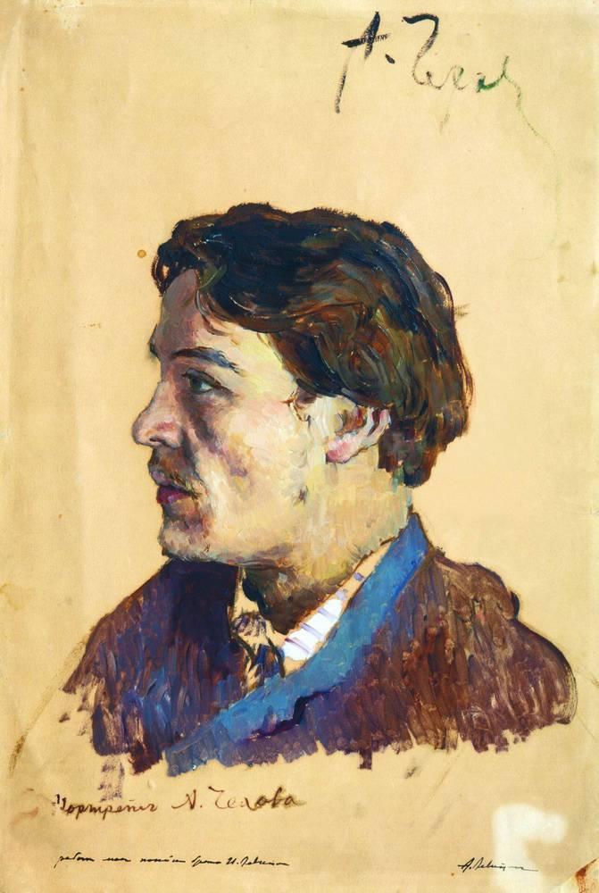 Исаак Левитан, «Портрет писателя Антона Павловича Чехова», 1886г.