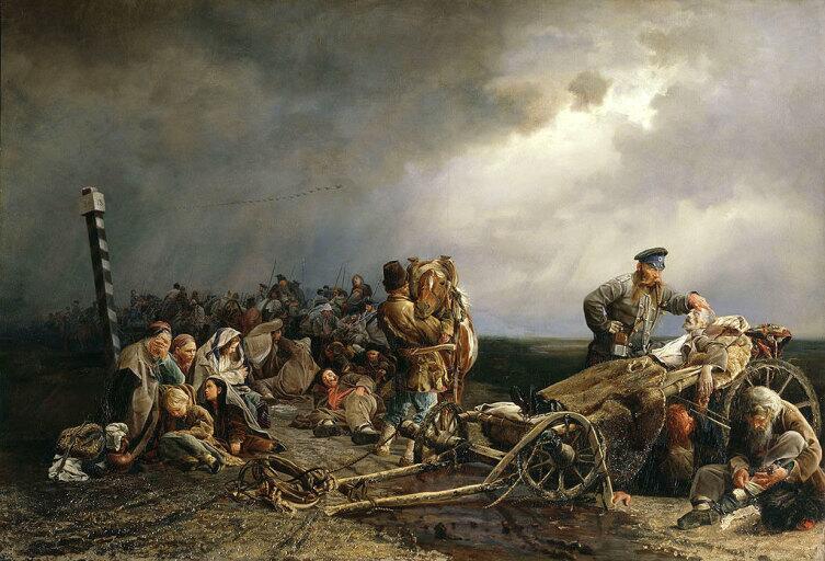 В. И. Якоби, «Привал арестантов», 1861 г.