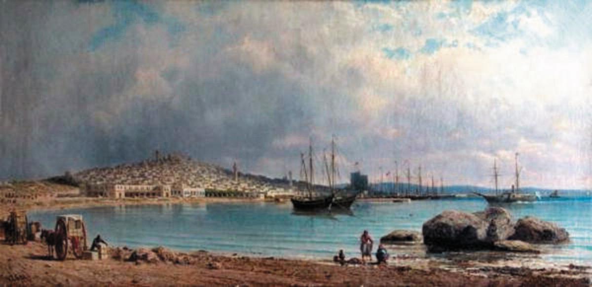 П. П. Верещагин, «Вид города Баку с моря», 1872г.