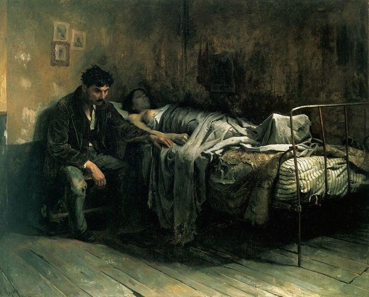Кристобаль Рохас, «Несчастье», 1886 г.