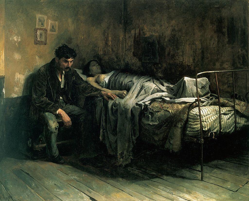 Кристобаль Рохас, «Несчастье», 1886г.