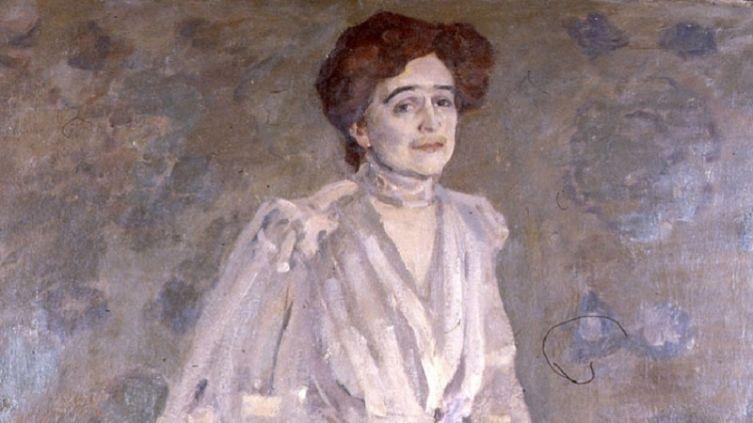 Н. П. Ульянов, «О. Л. Книппер в роли Раневской», фрагмент, 1907г.