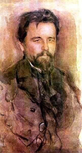В. А. Серов, «Портрет А. П. Чехова», 1903г.