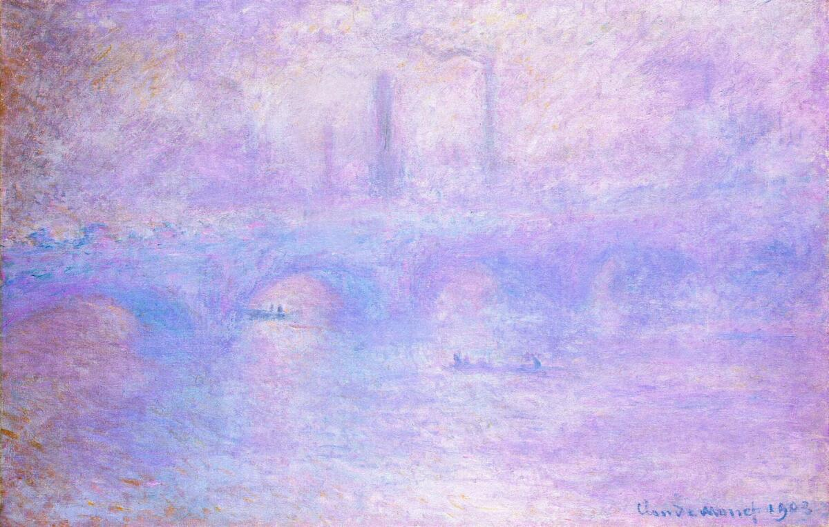 Клод Моне, «Мост Ватерлоо, туман», 1903г.