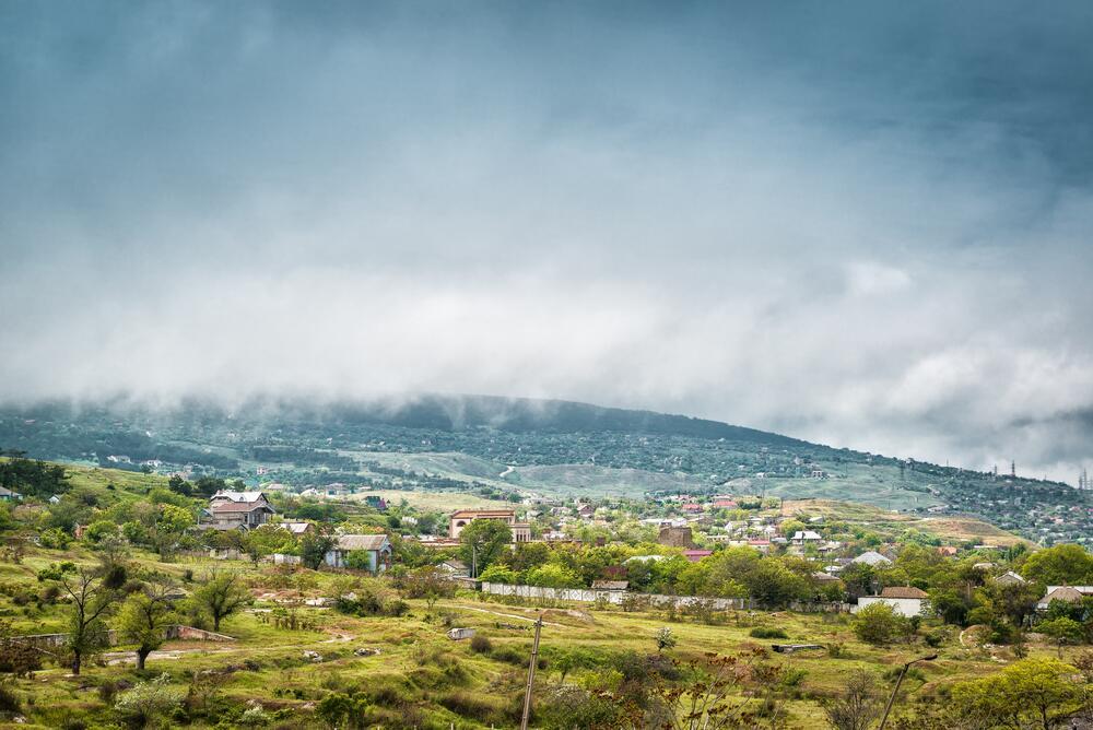 Туман спускается на Феодосию