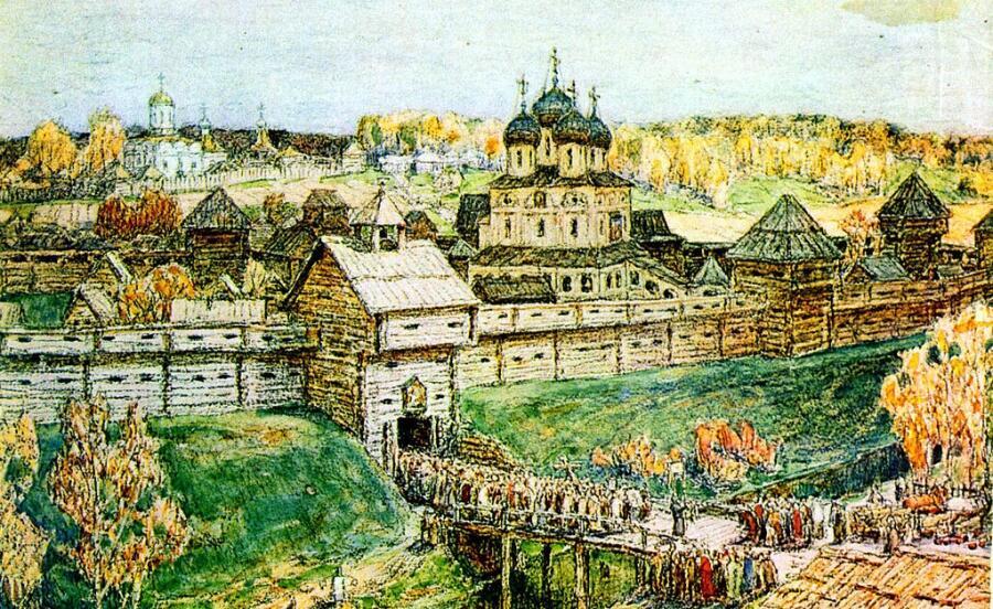 А. М. Васнецов, «Дмитров в XVI веке», фрагмент