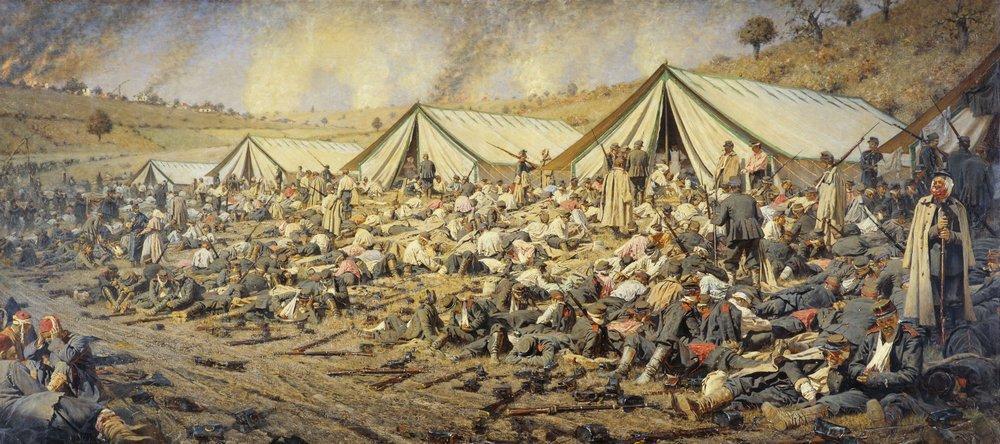 В. В. Верещагин, «После боя», 1881г.