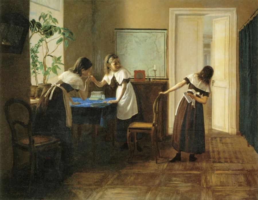 П. М. Петров, «Пансионерки», 1872г.
