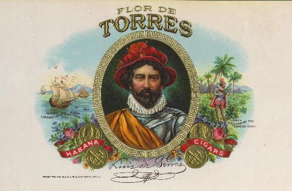 Луис де Торрес на этикетке с коробки кубинских сигар