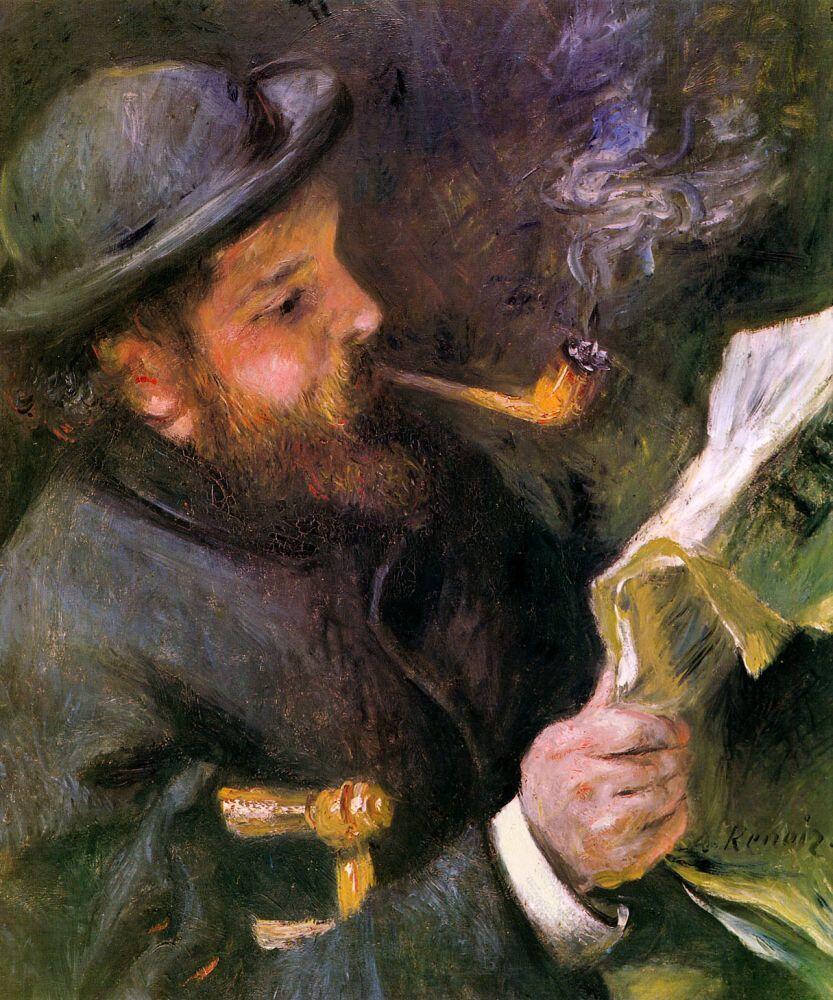 Пьер Огюст Ренуар, «Клод Моне за чтением», 1872г.