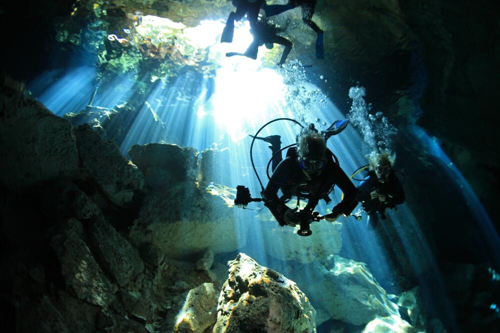Подводная пещера, Мексика