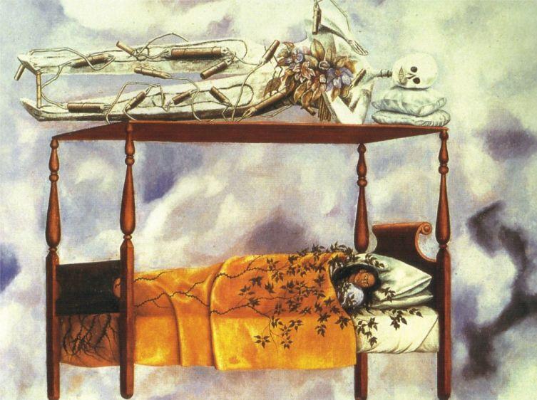 Фрида Кало, «Сон (Кровать)», 1940 г.