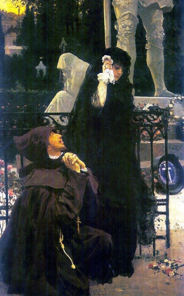 И. Е. Репин, «Дон Жуан и донна Анна», 1896г.