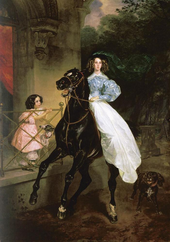 Карл Брюллов, «Всадница», 1832г.