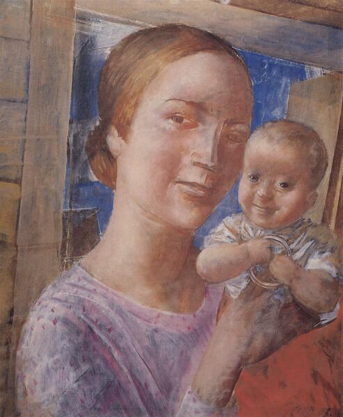 К. С. Петров-Водкин, «Мать и дитя», 1927 г.