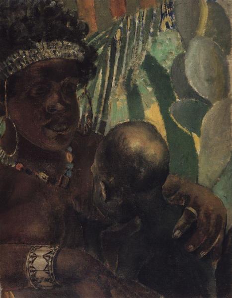 К. С. Петров-Водкин, «Негритянка», 1907 г.