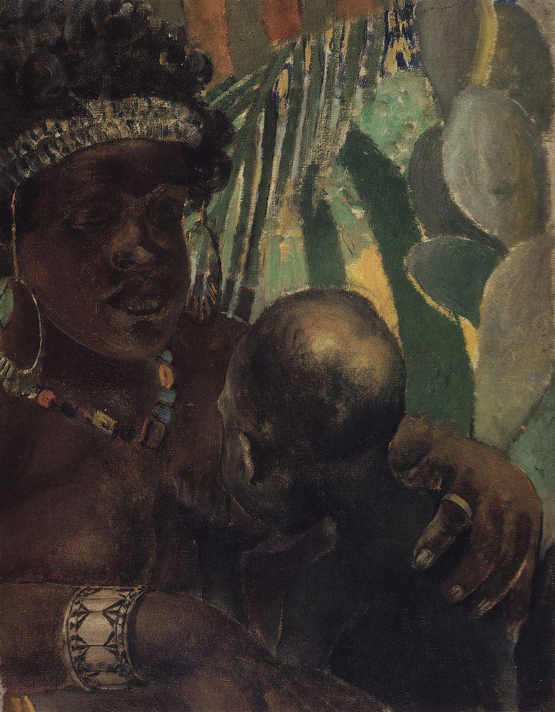 К. С. Петров-Водкин, «Негритянка», 1907г.