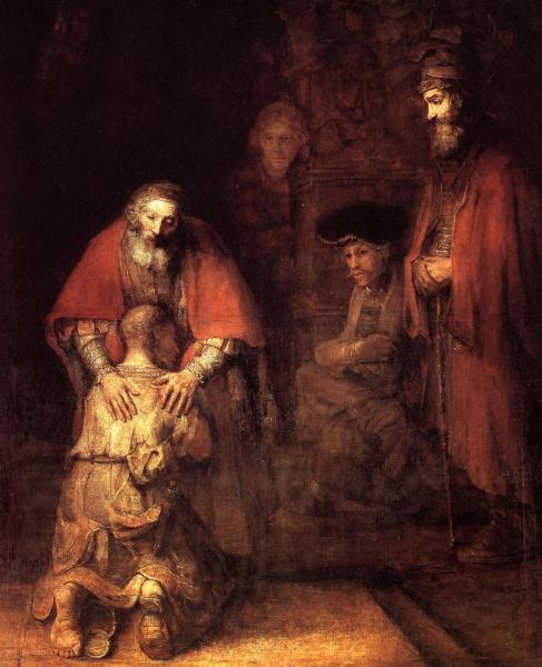 Рембрандт, «Возвращение блудного сына», 1669 г.