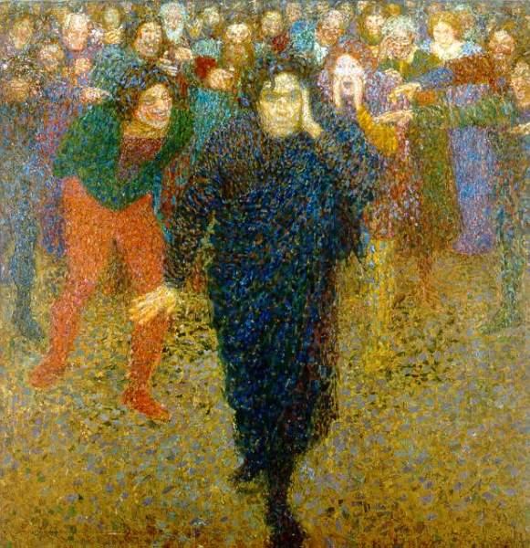 Егише Тадевосян, «Гений и толпа», 1909 г.