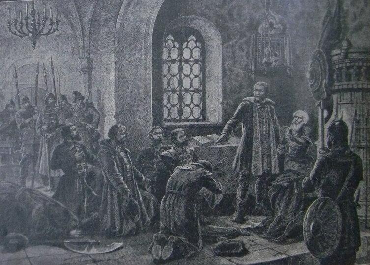 Н. Лоренц, «Князь Скопин-Шуйский разрывает грамоту Ляпунова о призвании на царство»