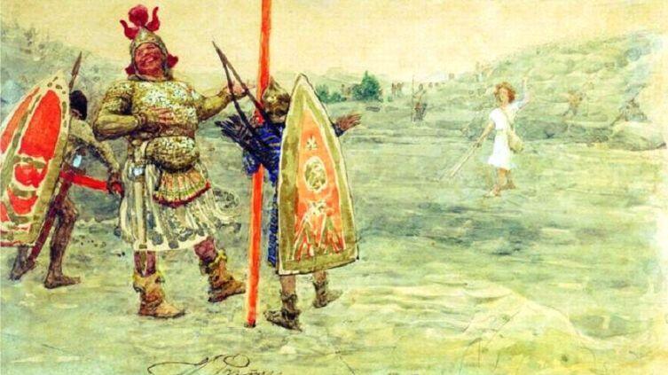 И. Е. Репин, «Давид и голиаф», 1915г.