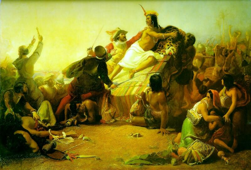 Джон Эверетт Милле, «Писарро берет в плен перуанских инков»