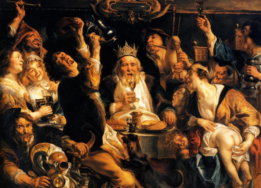 Якоб Йорданс, «Король пьет»
